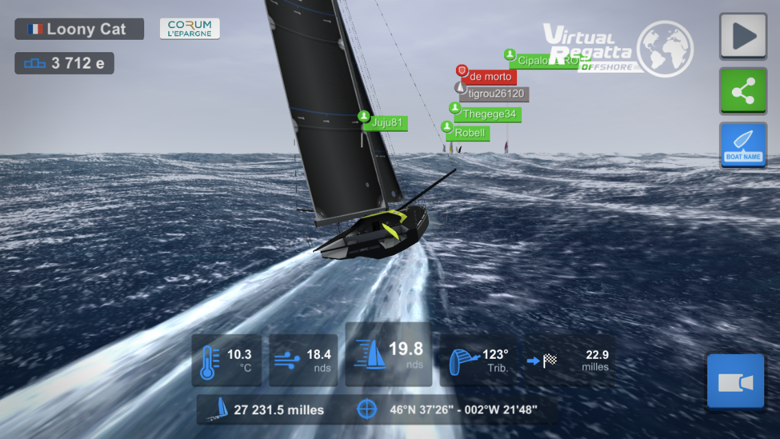 Vendée globe virtual Regatta